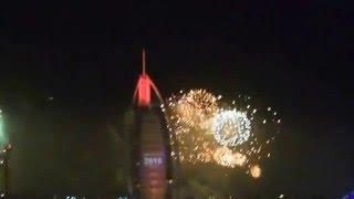 burj al arab fireworks 2016