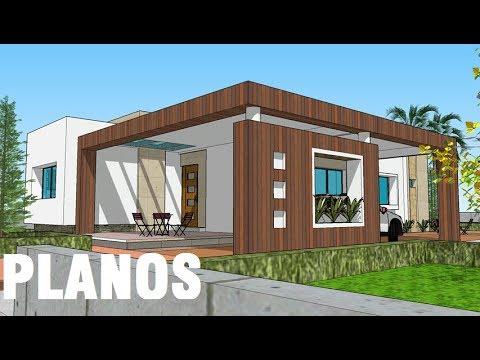 planos casa moderna 1 piso 3 rec casa lopez proyecto