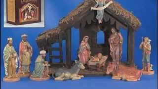 Beautiful Hand Crafted 10 Piece Digiovanni Nativity Set With Wood Stable - Gfchr1039
