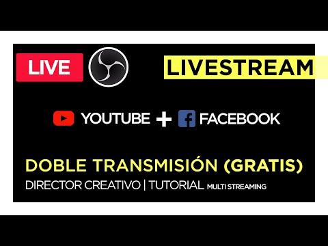 ¿Cómo Transmitir En VIVO Con Facebook Y Youtube Simultáneo? GRATIS | DIRECTOR CREATIVO