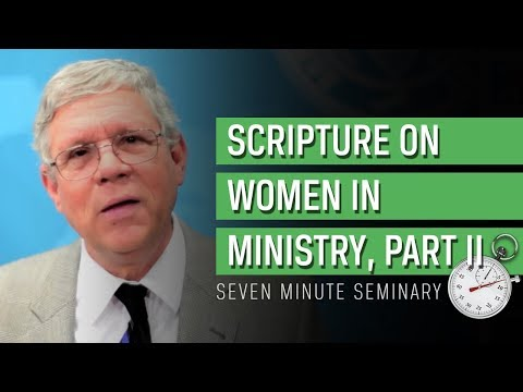 Women and Ministry, Part II: Seven Minute Seminary