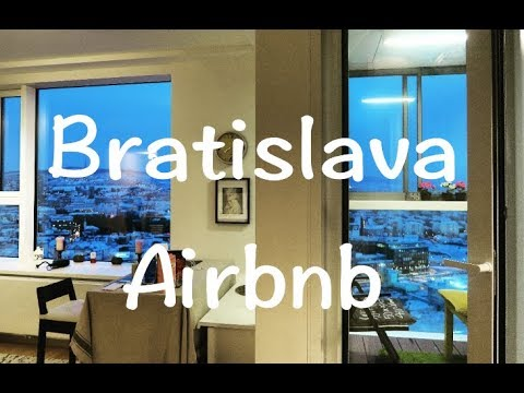 Cheap and beautiful Bratislava Airbnb❤|Panorama city| Slovakia Travel Vlog | 1080p