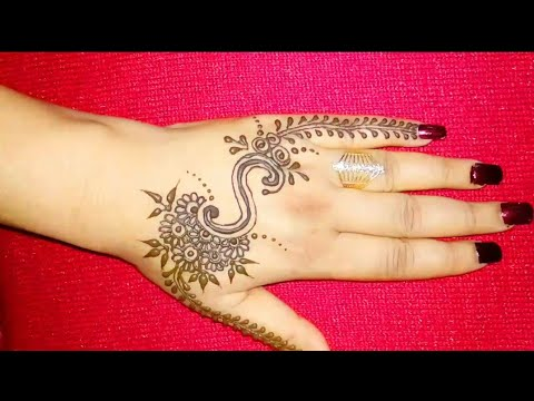 c02836f83 DIY 'S' Letter henna tattoo || Alphabet 'S' Letter mehndi design for hand