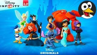 阿拉丁,唐老鸭,彼得潘,迪士尼公主 英文字幕 英文配音 | 迪士尼卡通 | 兒童遊戲影片 | 迪士尼 Infinity 2.0 英文版 | 儿童游戏动画