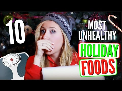 10 MOST FATTENING CHRISTMAS FOODS! | Kirsty Sky