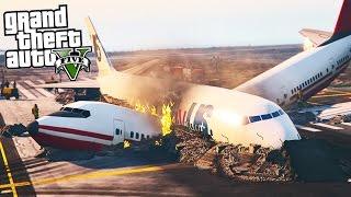 GTA 5 Plane Crash - PLANE CUTS OTHER PLANE IN HALF! (GTA 5 POLICE MOD)
