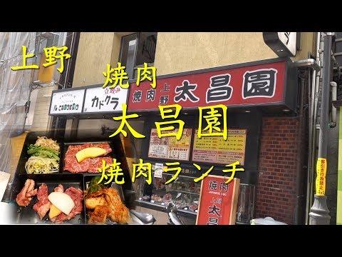 上野【太昌園】の焼肉ランチ Yakiniku Lunch of TAISHOEN in Ueno.【飯動画】