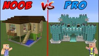 MINECRAFT NOOB VS PRO - Rumah Sultan VS Rumah Noob