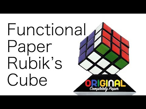 Functional Paper Rubik's Cube 3x3x3 | How to DIY