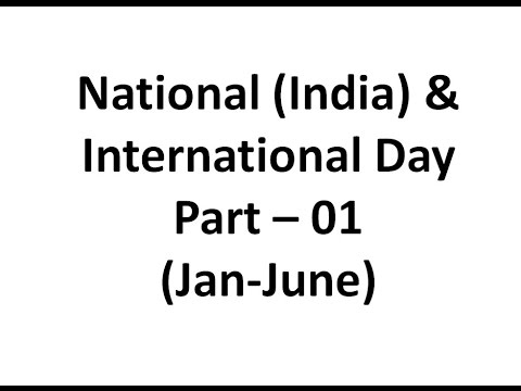 International & National Day Part 1 (January to June)