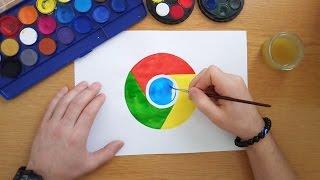 How to draw the Google Chrome logo (Desenhando logos famosos)