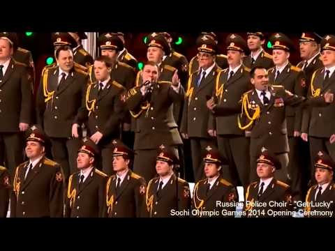 """Russian Red Army Choir Sings """"Get Lucky"""" Before Sochi Opening Ceremony 2014"""