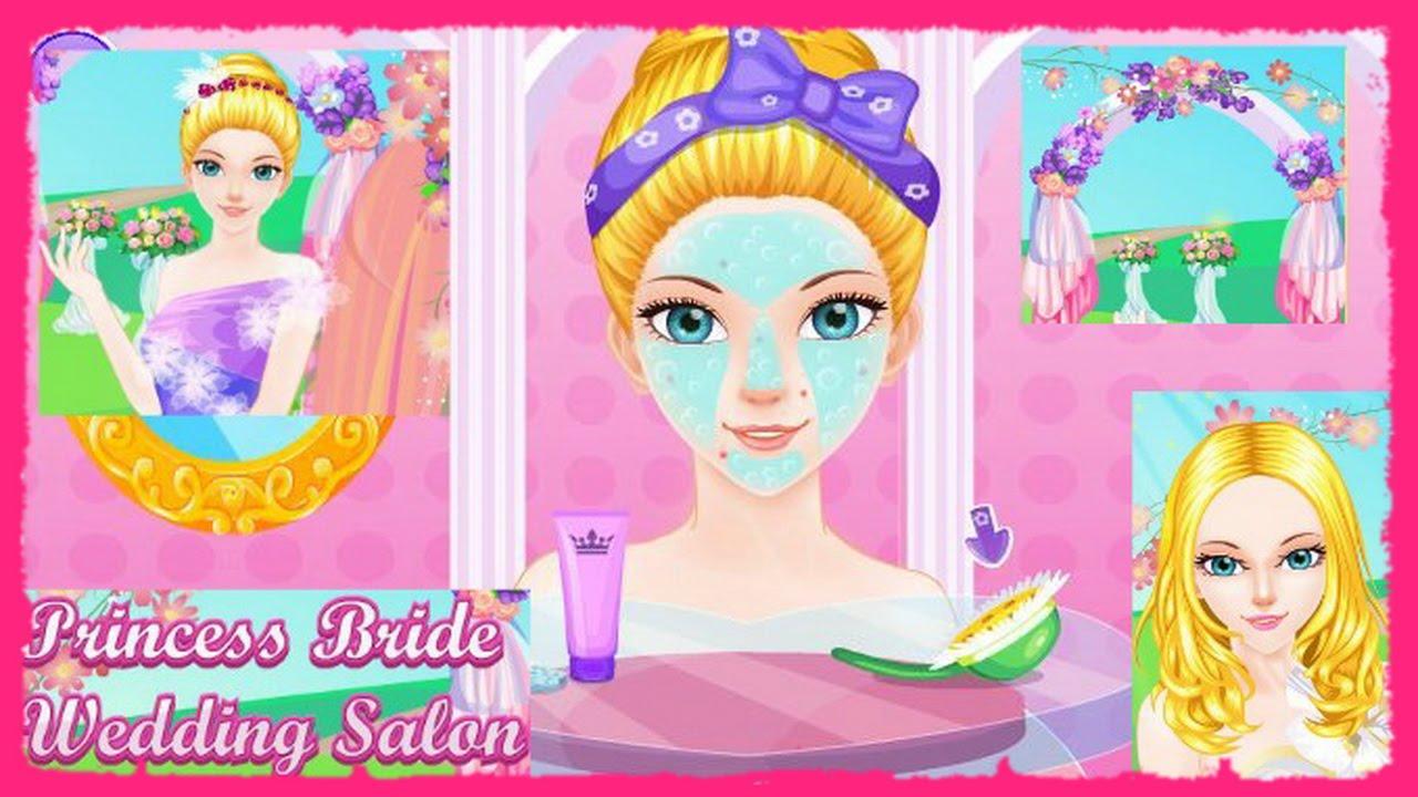 play princess bride wedding salon video now-princess games-wedding games online