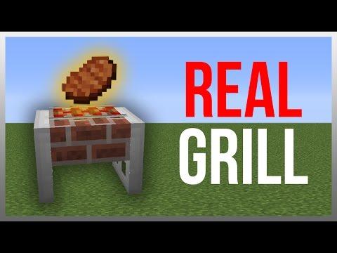 Minecraft 1.12: Redstone Tutorial - Working Grill!