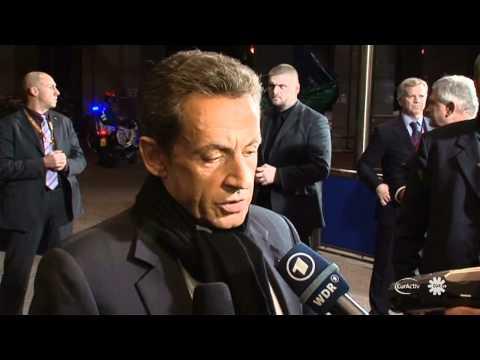 Merkel, Sarkozy, Barroso, Van Rompuy arrive for euro crisis talks