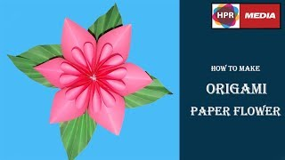 Origami paper flower 2017 | How to make Paper Flower | Paper Craft Ideas