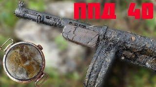 Нашли Старшину с редким Пистолет-Пулеметом в руках в болоте!