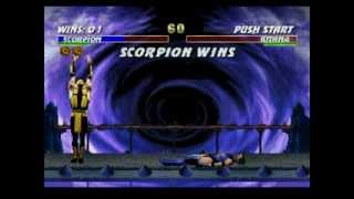 Ultimate Mortal Kombat 3 - Sega Saturn Playthrough
