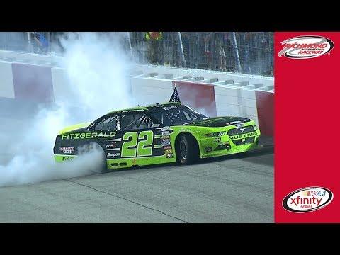 Brad Keselowski celebrates with impressive burnout