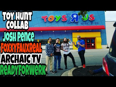 Toy Hunting w/ Josh Pence, Archaic TV, ReadyForWerk @ Fanboy 2017