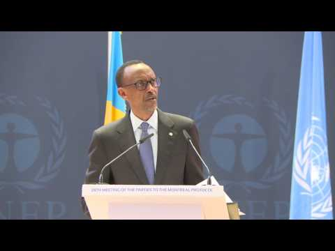 President Kagame speaks at the 28th Meeting of the Parties to the Montreal Protocol