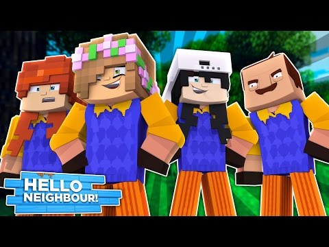 BOYS VS GIRLS BODYSWAP! Minecraft Hello Neighbour w/LittleKelly,Carly,Raven & Leo