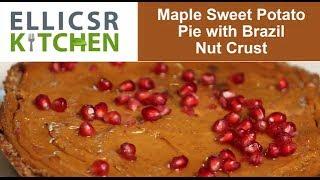 Maple Sweet Potato Pie With Brazil Nut Crust
