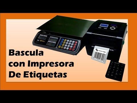 Bascula Con Impresora De Etiquetas Imprime Peso C 243 Digo