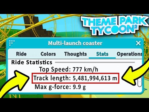 LONGEST Roller Coaster EVER!! - Theme Park Tycoon | Roblox