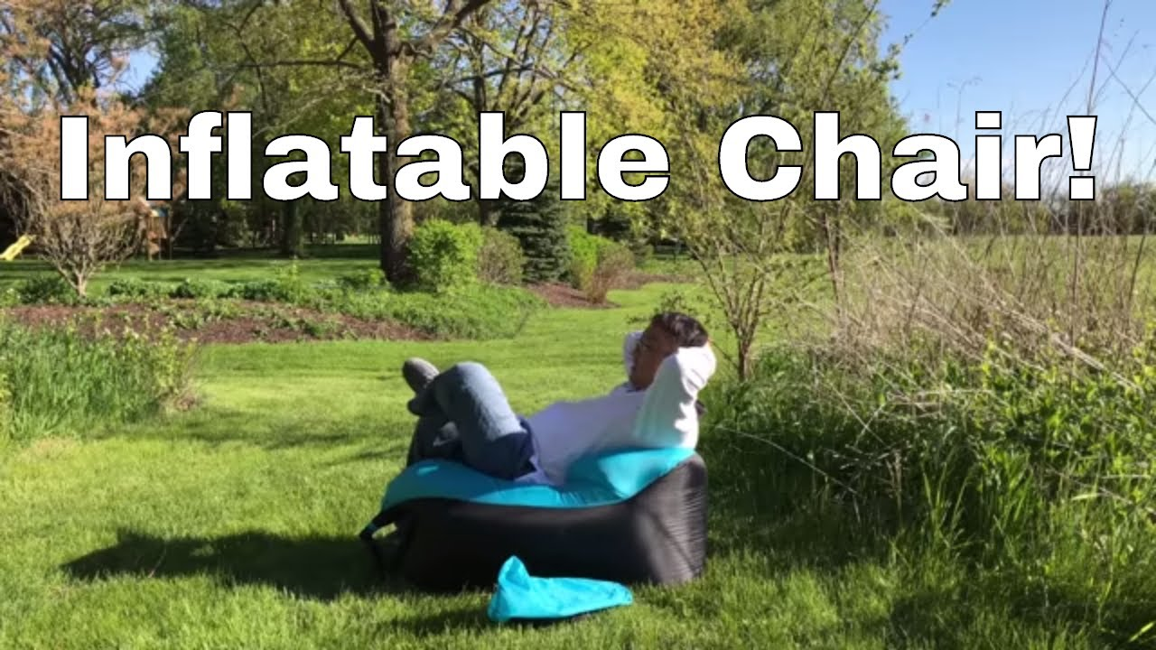 Inflatable Travel Lounger Beach Chair Review Youtube