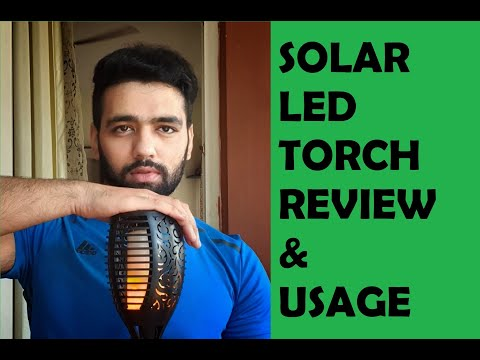 Solar LED Tiki Torch Light (Mashaal)  Review & Usage #solartorch #tikitorch #ecofriendly #solarpower