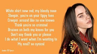 Cover images Billie Eilish, Justin Bieber - bad guy (Lyrics)