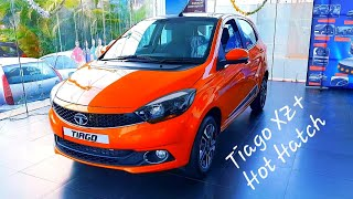 Tata Tiago 2019 XZ plus top model Canyon Orange detailed review | Features | Projector headlights