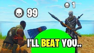 DEFAULT SKIN TELLS ME HE CAN BEAT ME IN KILLS... (Is He a PRO??) thumbnail