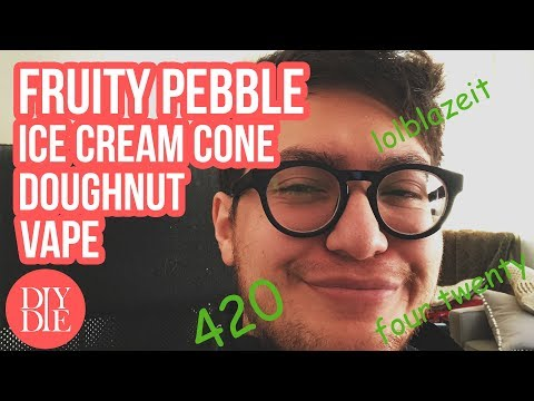 #LiveMixing: Fruity Pebble Ice Cream Cone Doughnut Vape
