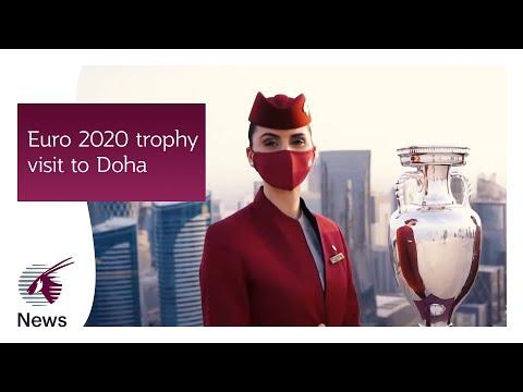 Euro 2020 trophy visit to Doha | Qatar Airways