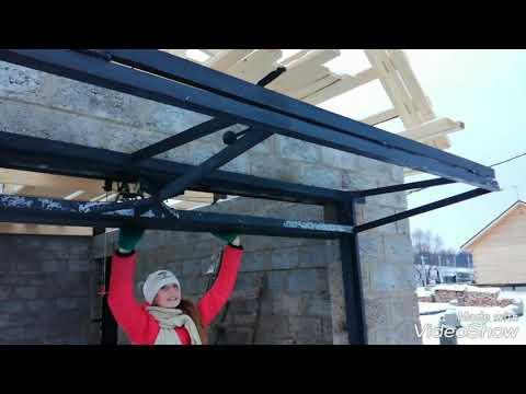 видео: подъемно складные ворота
