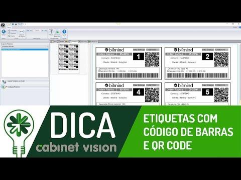 Dica 03 CV | Etiquetas com Código de Barras e QR Code