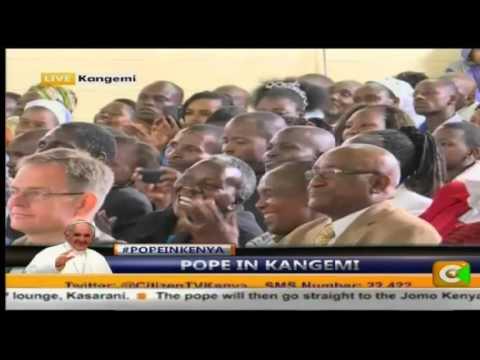 Pope Francis in Kangemi at St Joseph the Worker church #PopeinKenya