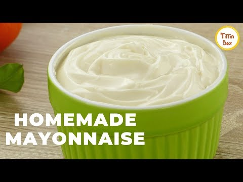 Easy Homemade Mayonnaise Recipe by Kids Tiffin Box | How to make Garlic Mayonnaise/Mayo | মেয়োনিজ