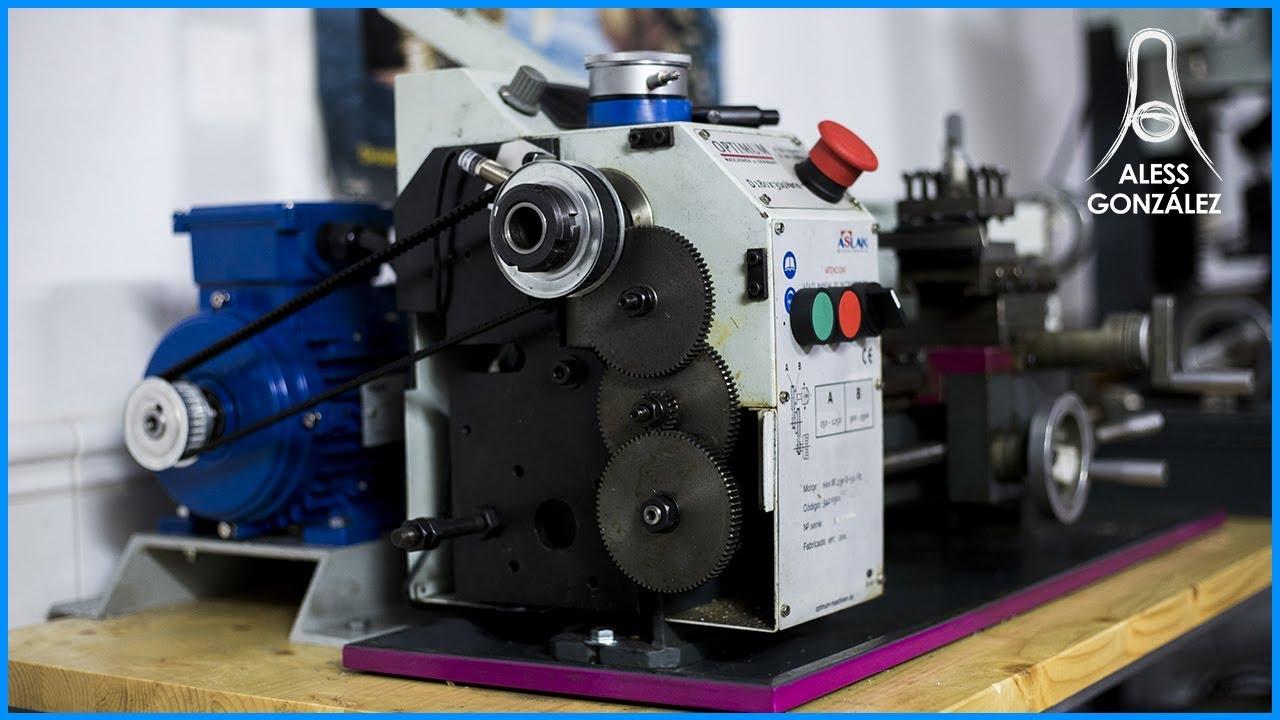 MINI LATHE TRANSFORMATION! DC motor to an AC motor 🔧 [Optimum D180x300]