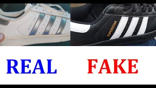 Adidas Superstar real vs fake. How to spot counterfeit Adidas ...