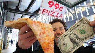 PROBANDO PIZZAS DE $1 🍕 | ¿Cuál es la mejor?