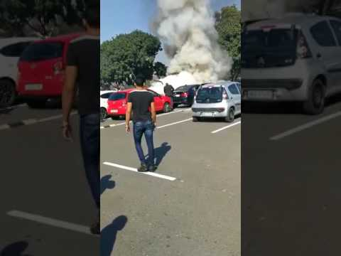 Varsity College student's vehicle bursts into flames