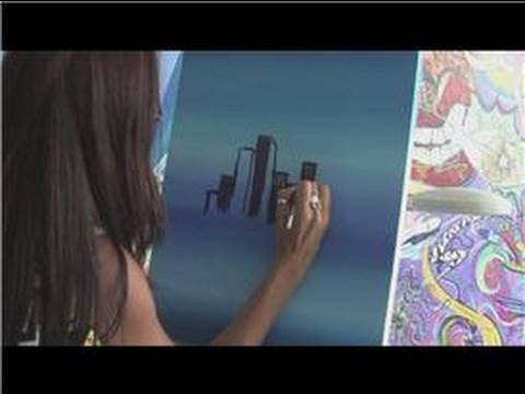Painting With Acrylics How To Paint A Skyline Youtube