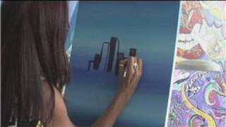 Painting With Acrylics : How to Paint a Skyline