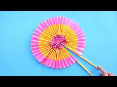 DIY Paper  FAN —Origami fan 折纸:扇子
