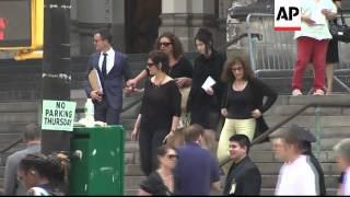 Funeral of Sopranos star James Gandolfini held in New York