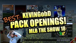 KEVINGOHD BEST PACK OPENINGS!! MLB THE SHOW 18 DIAMOND DYNASTY