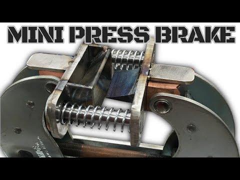 Metal Bending Mini Press Brake - Powered by Dimide Clamp - Steel Bender